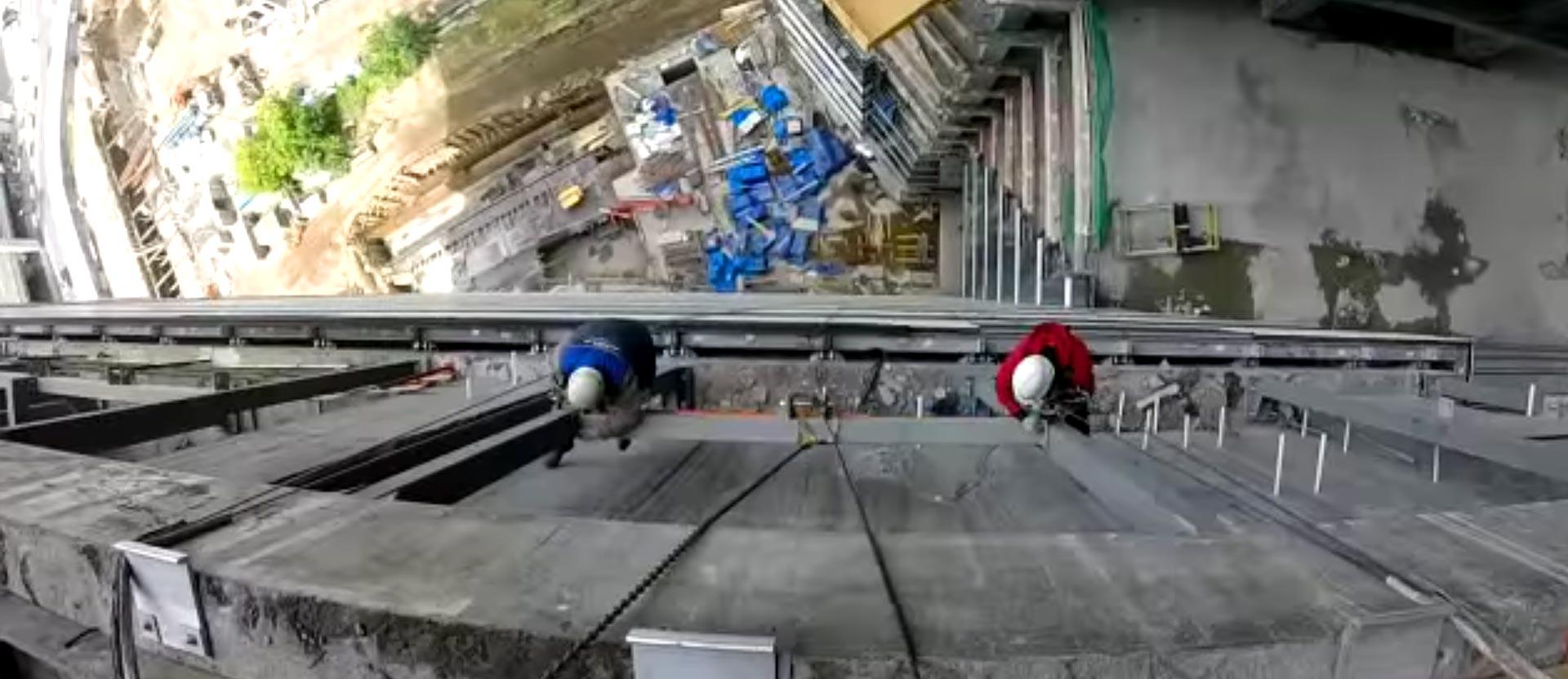 Монтаж металлоконструкций на высоте 100 метров. Как мы производили монтаж металлоконструкций для установки фасада