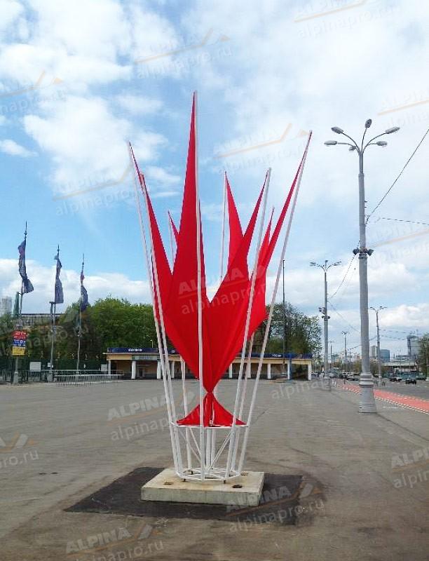 Объёмно-декоративные конструкции Флаговый костерН=6,5м