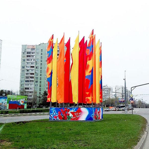 Оформление города флаговыми конструкциями
