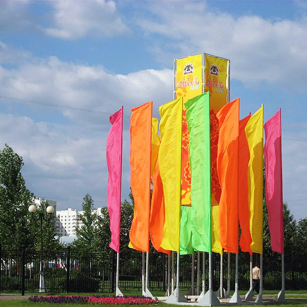 Оформление города флаговыми конструкциями - производство и монтаж