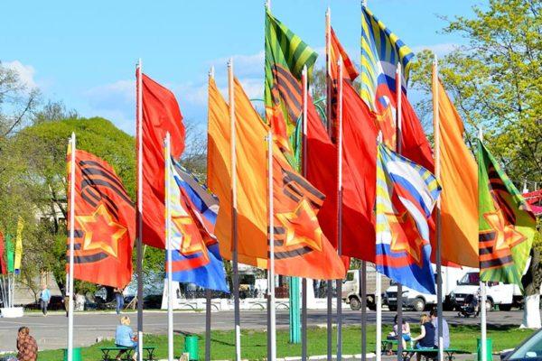 Флаговые конструкции для оформление города. Производство и монтаж