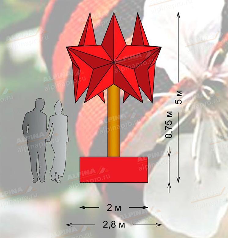 Три звезды Н=5м