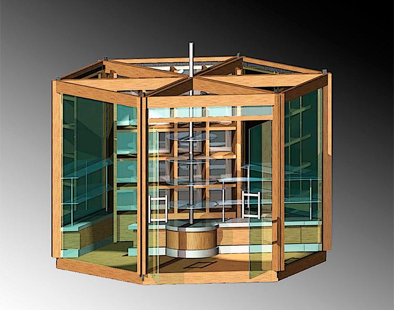 Разработка дизайна павильона для торговли