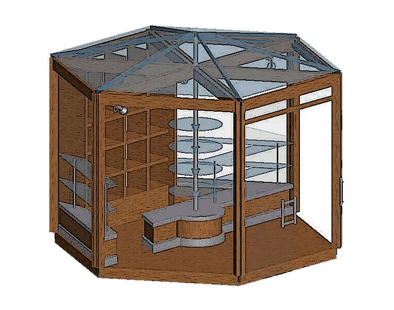 Архитектурный дизайн торгового павильона