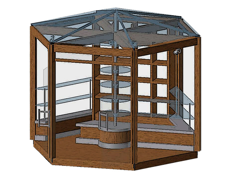 Дизайн концепции торгового павильона