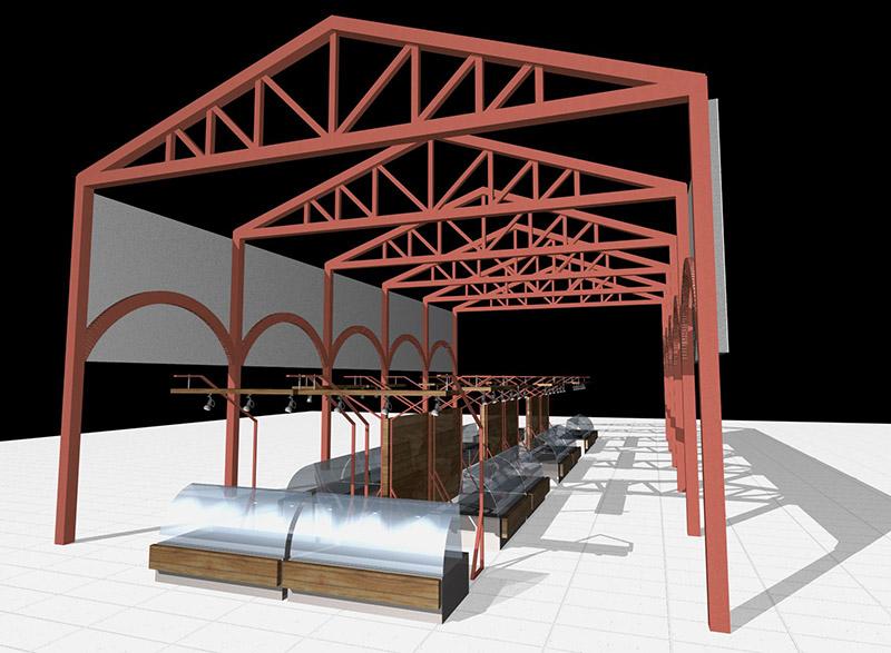 Дизайн конструкции торгового павильона