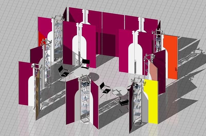 Эскизный проект универсального витринного модуля оформление торгового пространства