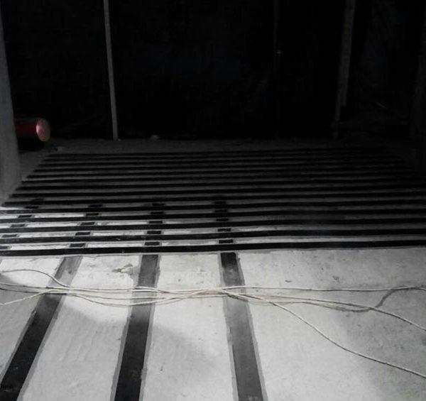 Усиление фундаментной плиты ламелями