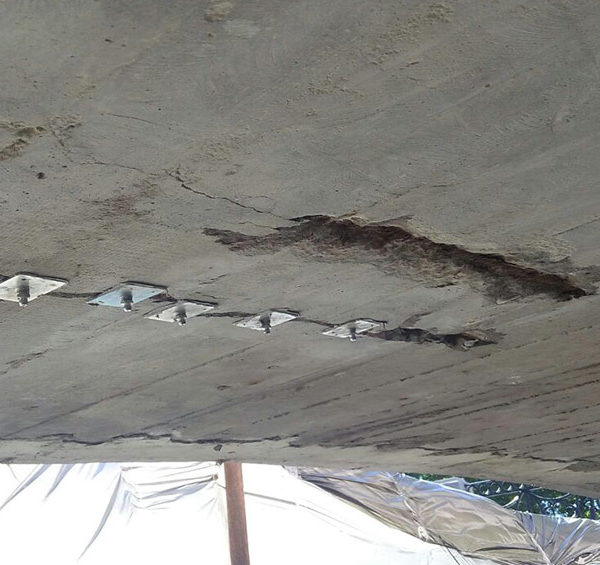 Усиление моста углеродным волокном