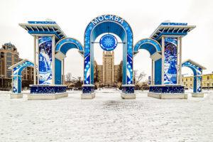 Строительство и монтаж новогодних арок метро Баррикадная