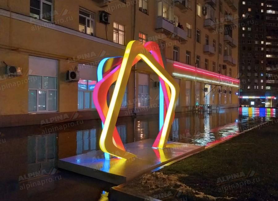 Конструкция светодиодная для улицы. Производство и монтаж