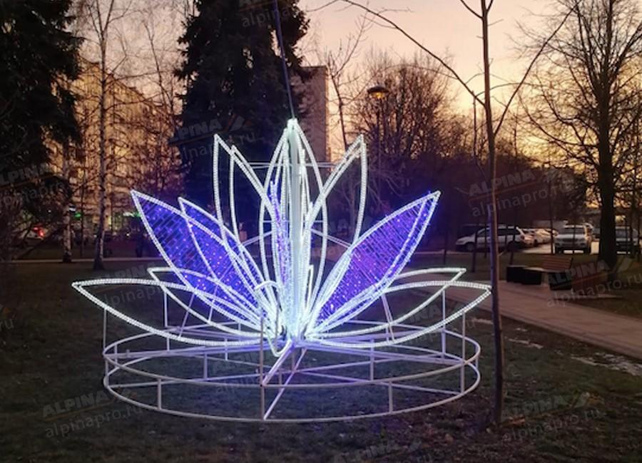 Светодиодная лилия для оформления городской среды