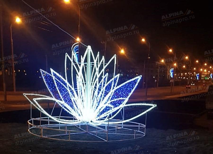 Светодиодная лилия, конструкция для оформления городской среды