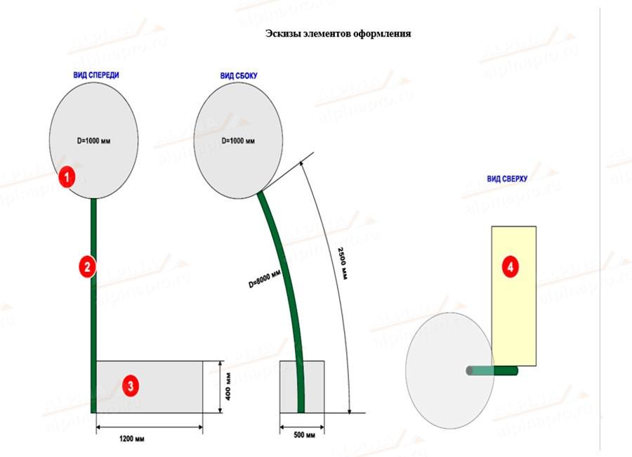 Конструкция светодиодная Одуванчики для улицы