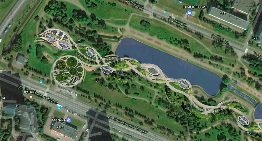 Общий план обустройства парка «Бутово»